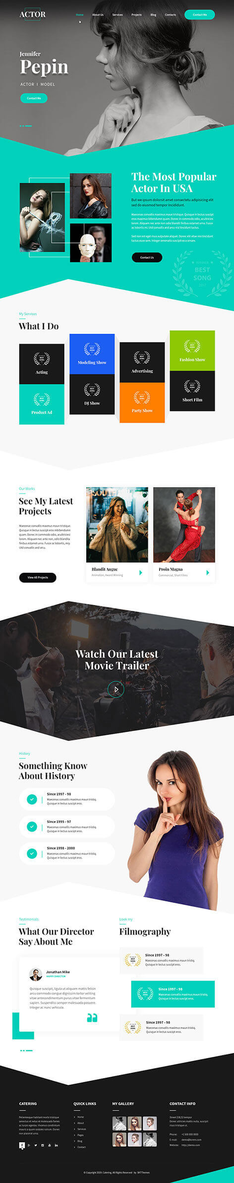 comedian WordPress theme