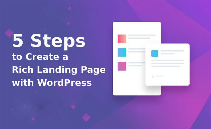 create a rich landing page