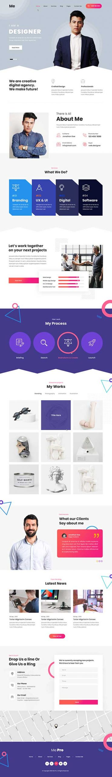 resume WordPress theme