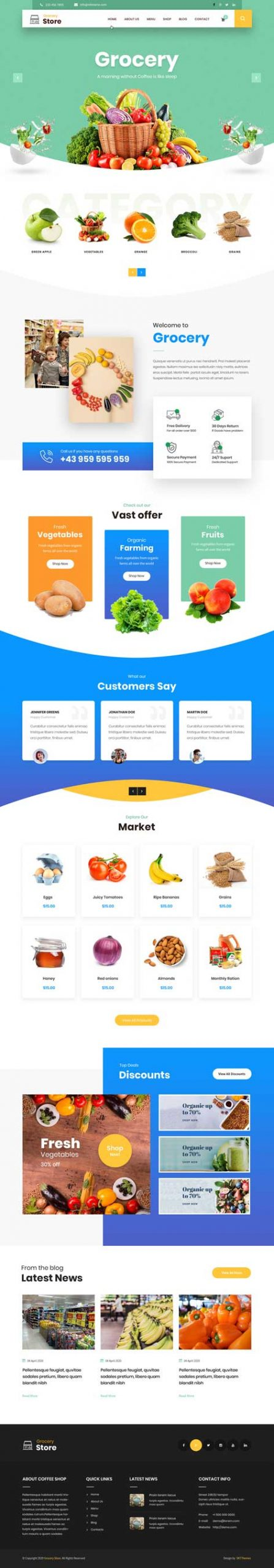 supermarket WordPress theme