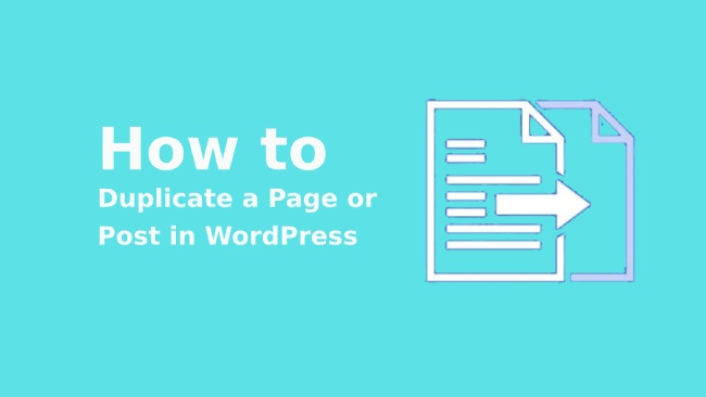 duplicate a post in WordPress