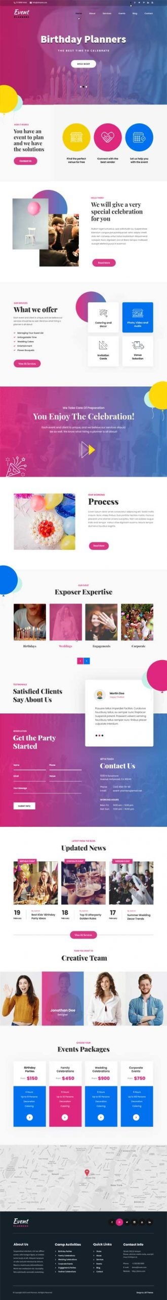 event guide WordPress theme