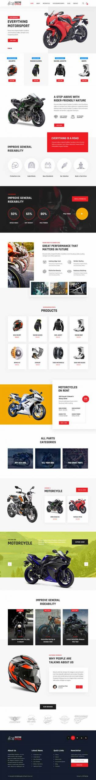 spare parts WordPress theme