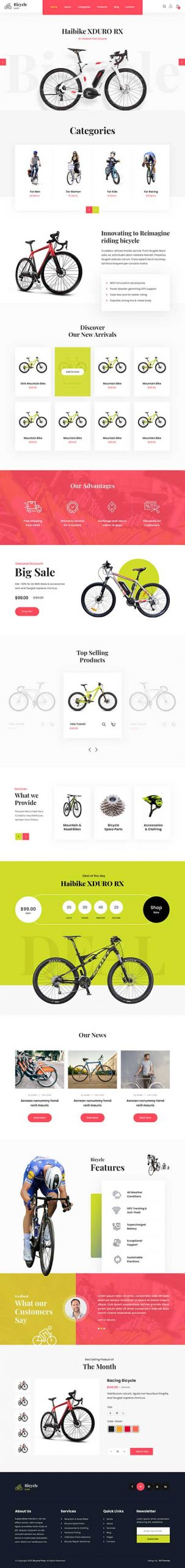 bicycle store WordPress theme