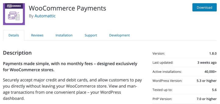 Liste des paiements WooCommerce