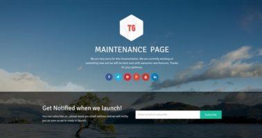 Maintenance-Page