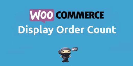 Woocommerce Display Order Count