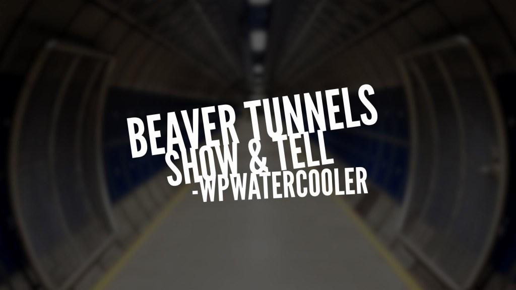 Beaver Tunnels – WPshowandtell