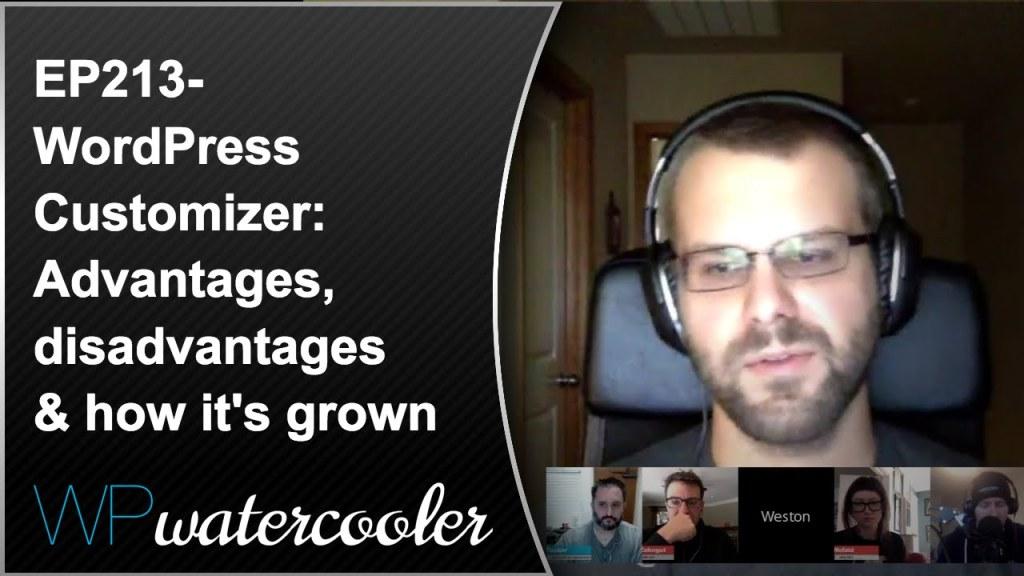 Ep213 - wordpress customizer: advantages, disadvantages & how it's grown 4