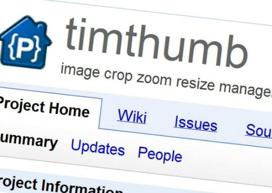 timthumb image crop zoom resizing script