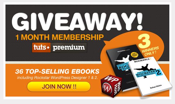 Tuts Membership Giveaway by WPWebHost