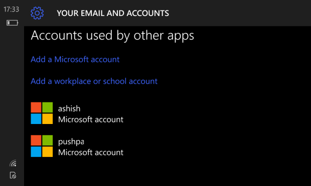Add MS Account used by Other Apps