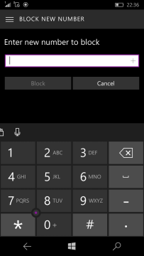 Block Calls and Messages on Windows 10 Mobile
