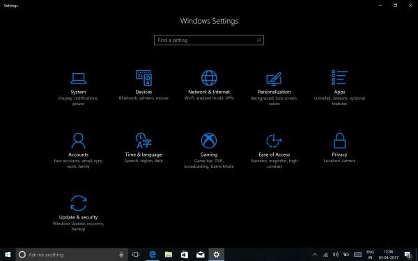 Configure Privacy Settings in Windows 10