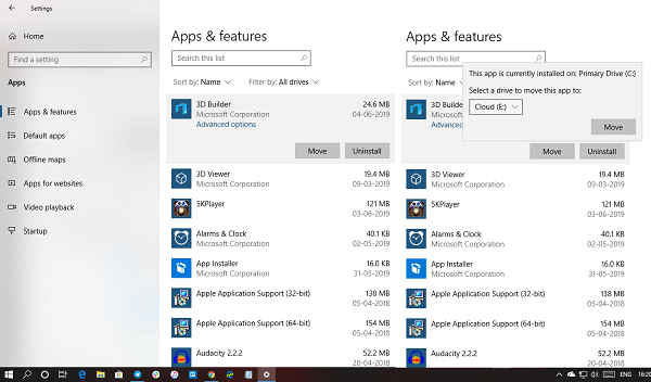 How to Move Apps in Windows 10