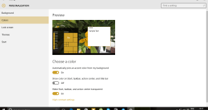 Automatically Change Windows 10 Accent Color
