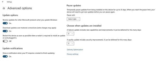 Windows 10 Delay Updates