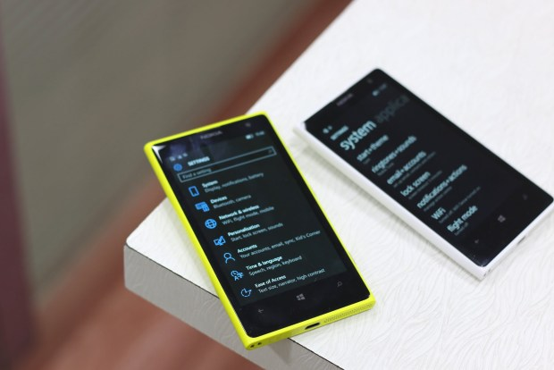 Windows 10 Mobile Settings Refresh