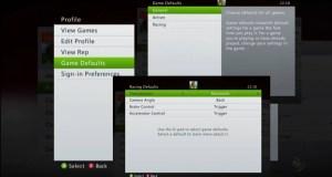 Set game defaults xbox