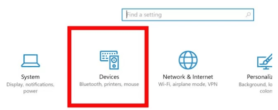 Windows 10 Devices Settings