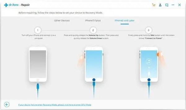iOS DFU Recovery Mode