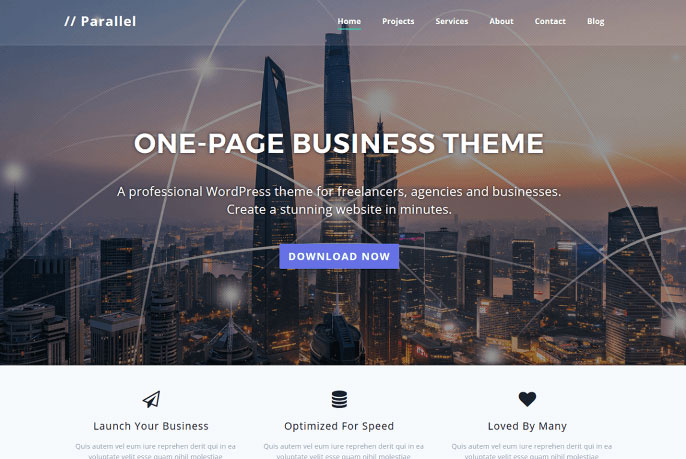 parallel wordpress theme