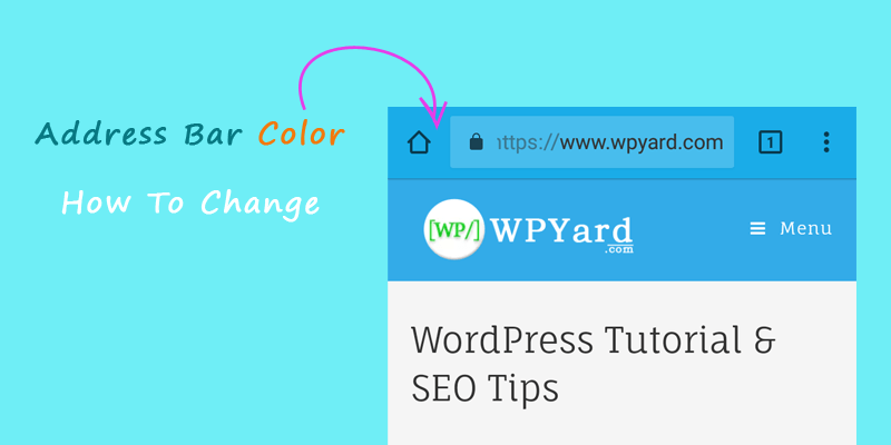 Change address bar color
