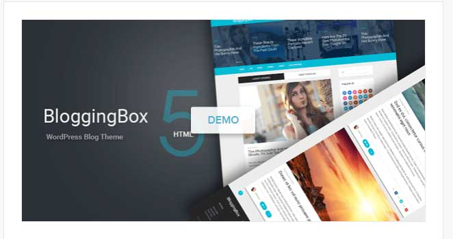 blogging box wordpress theme