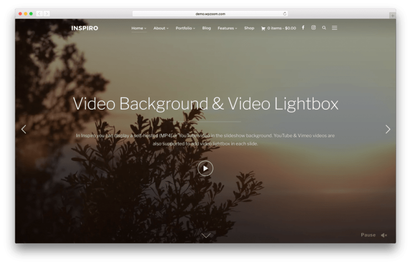 Inspiro WordPress portfolio theme