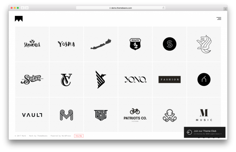Mark WordPress portfolio theme screenshot