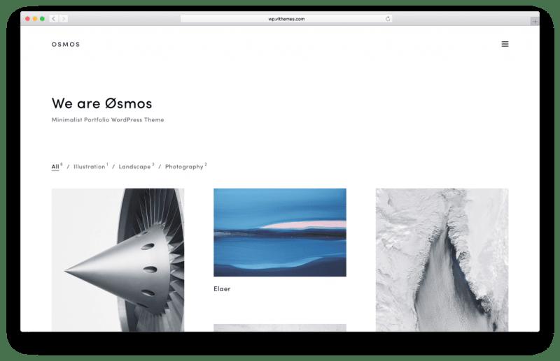 Osmos WordPress portfolio theme screenshot
