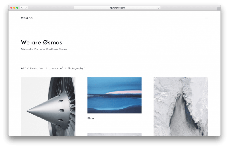 Osmos WordPress portfolio theme screenshot
