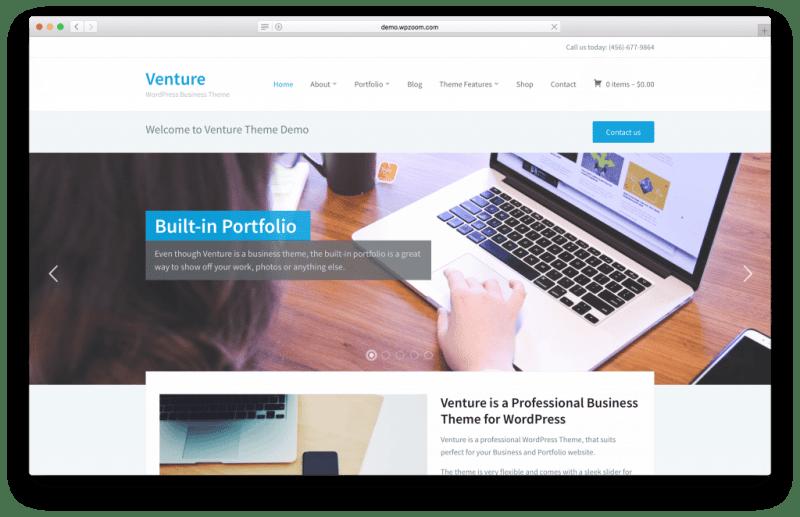 Venture WordPress portfolio theme screenshot