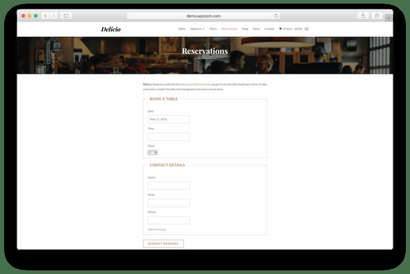 Restaurant reservations.