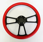 1976 - 1995 JEEP Wrangler YJ CJ7 CJ5 Cherokee Red On Black Steering Wheel 14