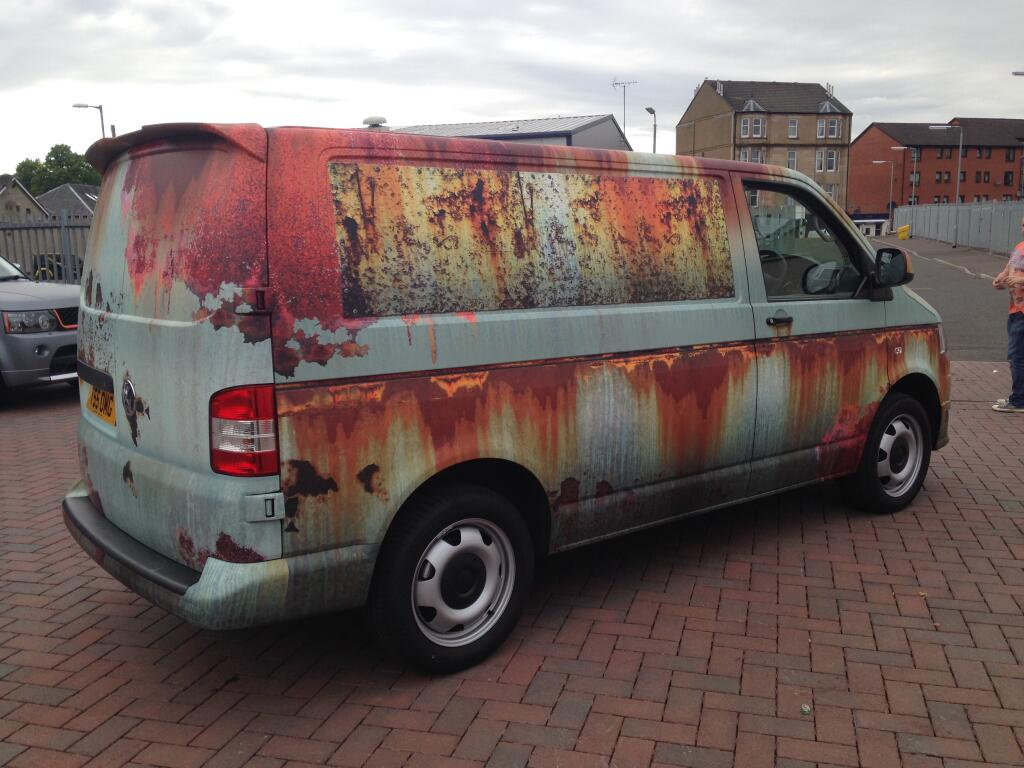 Rusty Van Wrap Artist Vinyl Graphics