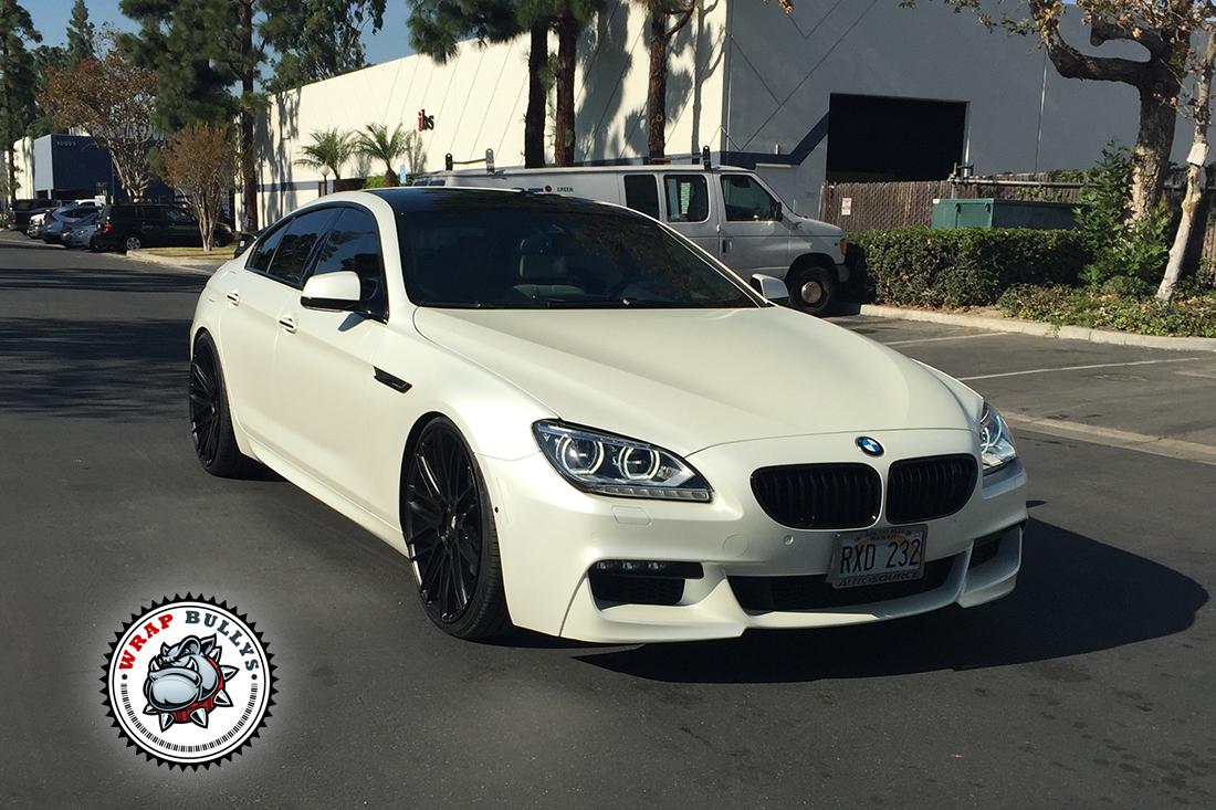 BMW Wrapped in Satin Pearl White Wrap