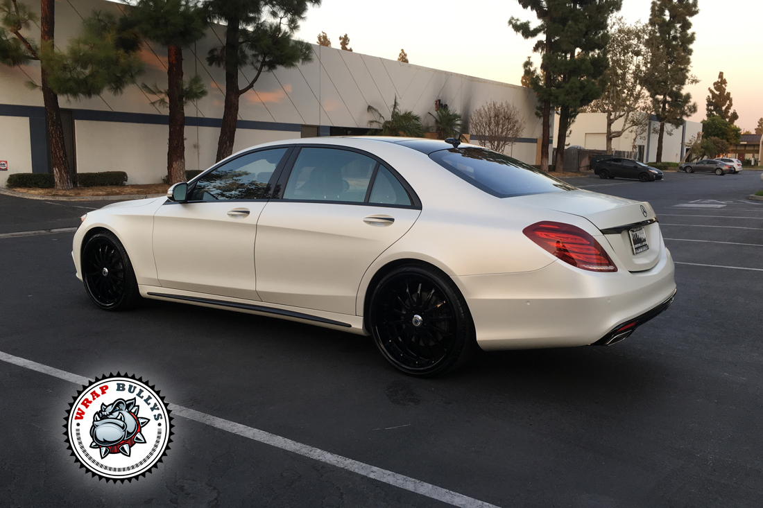 Satin Pearl White Wrap. Call today for pricing.
