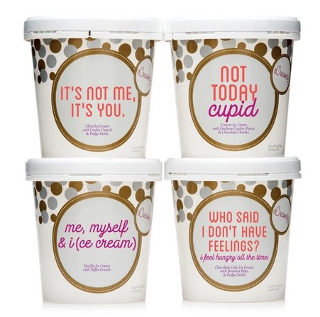 anti-Valentines Day Gifts of Ice Cream from eCreamery