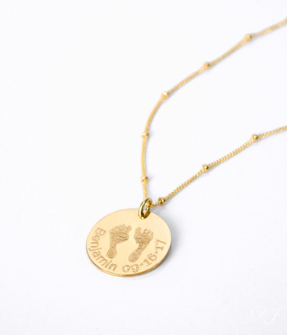 Baby Footprint Necklace gift for new parents