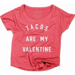 Tacos Are My Valentine Shirt anti-valentines day gift