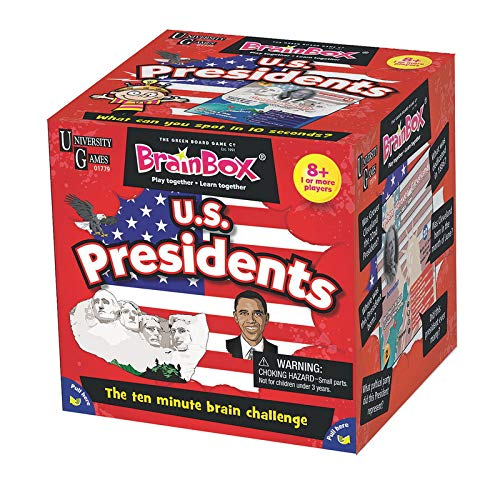 The U.S. Presidents BrainBox game makes a fun presidential gift