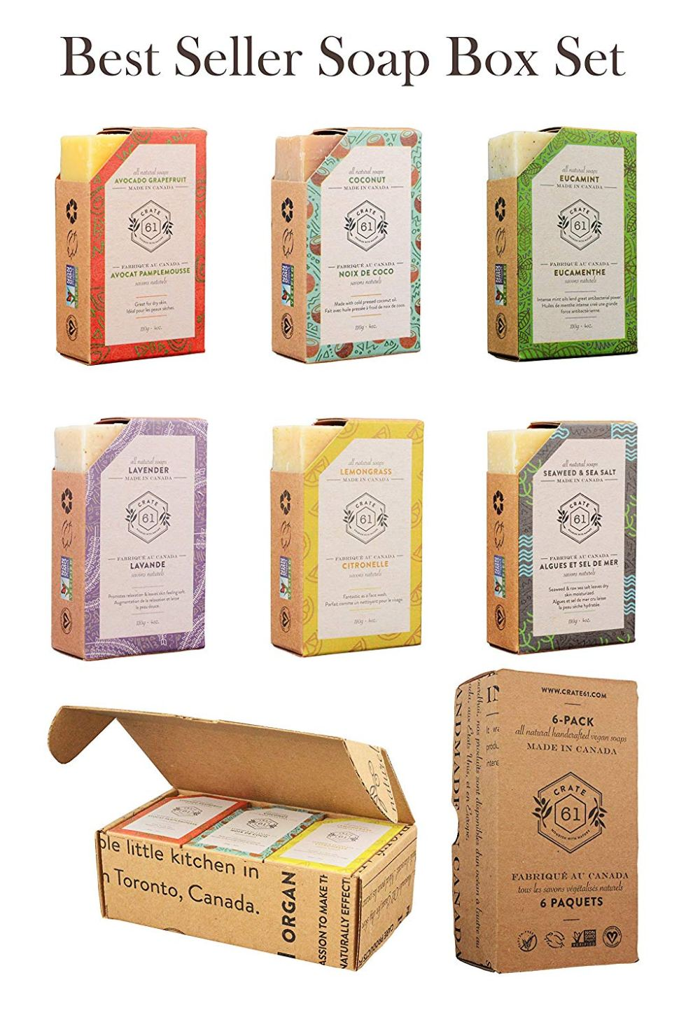 Vegan 6-Pack Natural Soap Gift