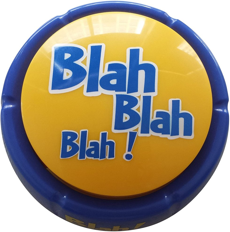 Blah Blah Blah Button April Fool's Day gifts