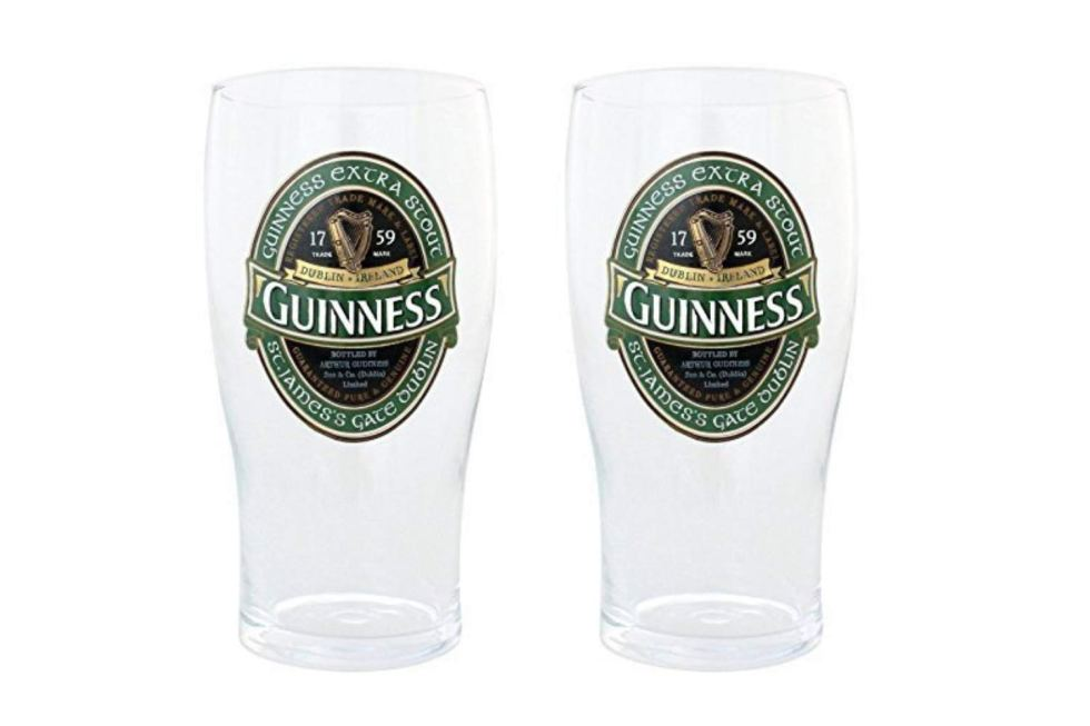 Guinness Green Pint Glasses for gifts