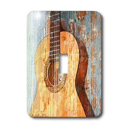 Guitar Light Switch Cover for music bedroom decor