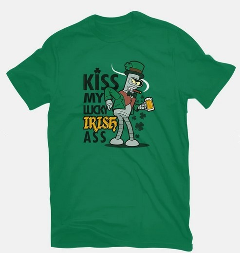 Lucky Irish Ass Bender Tee for St Patricks Day gifts