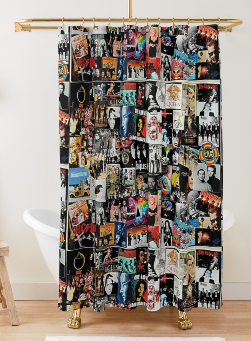 Rock Album Cover Shower Curtain