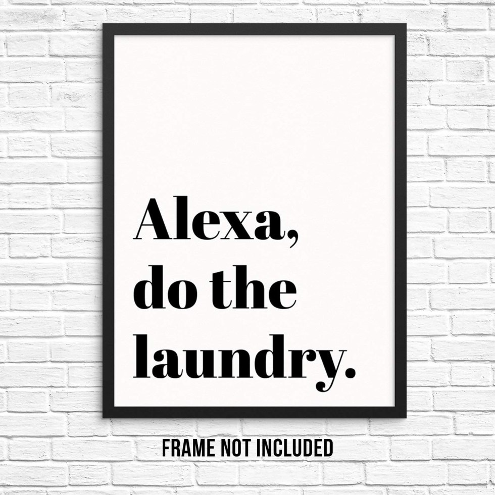 Alexa Laundry room decoration