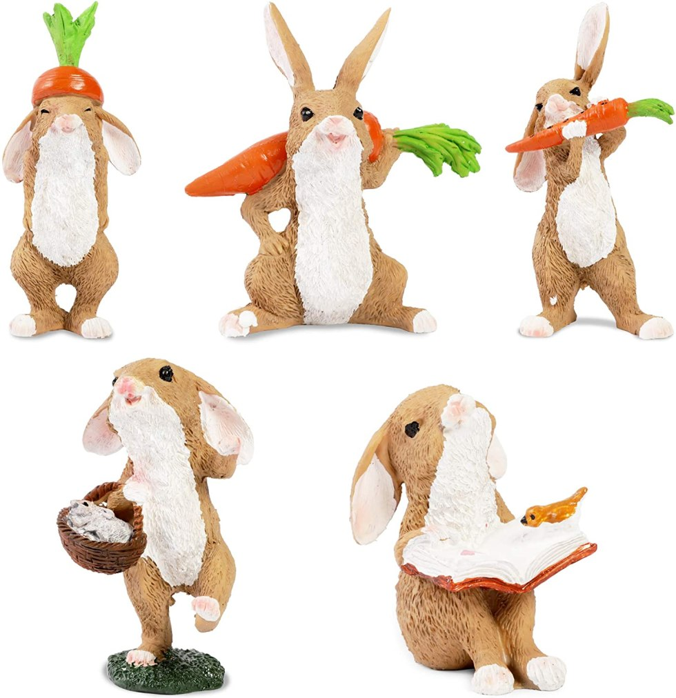 Garden statues for bunny decorations